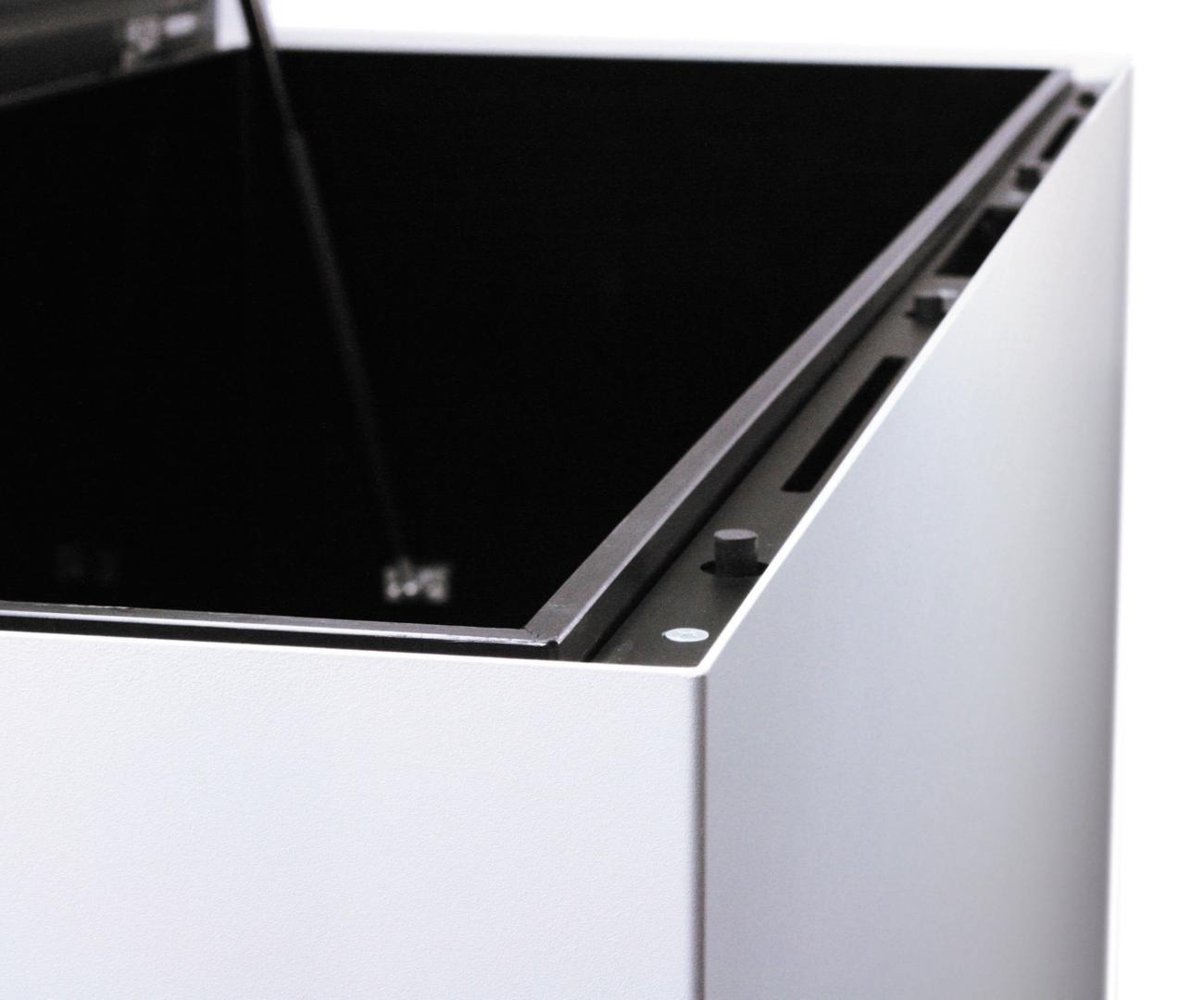 kissentruhe medium weiss anthrazit methon. Black Bedroom Furniture Sets. Home Design Ideas