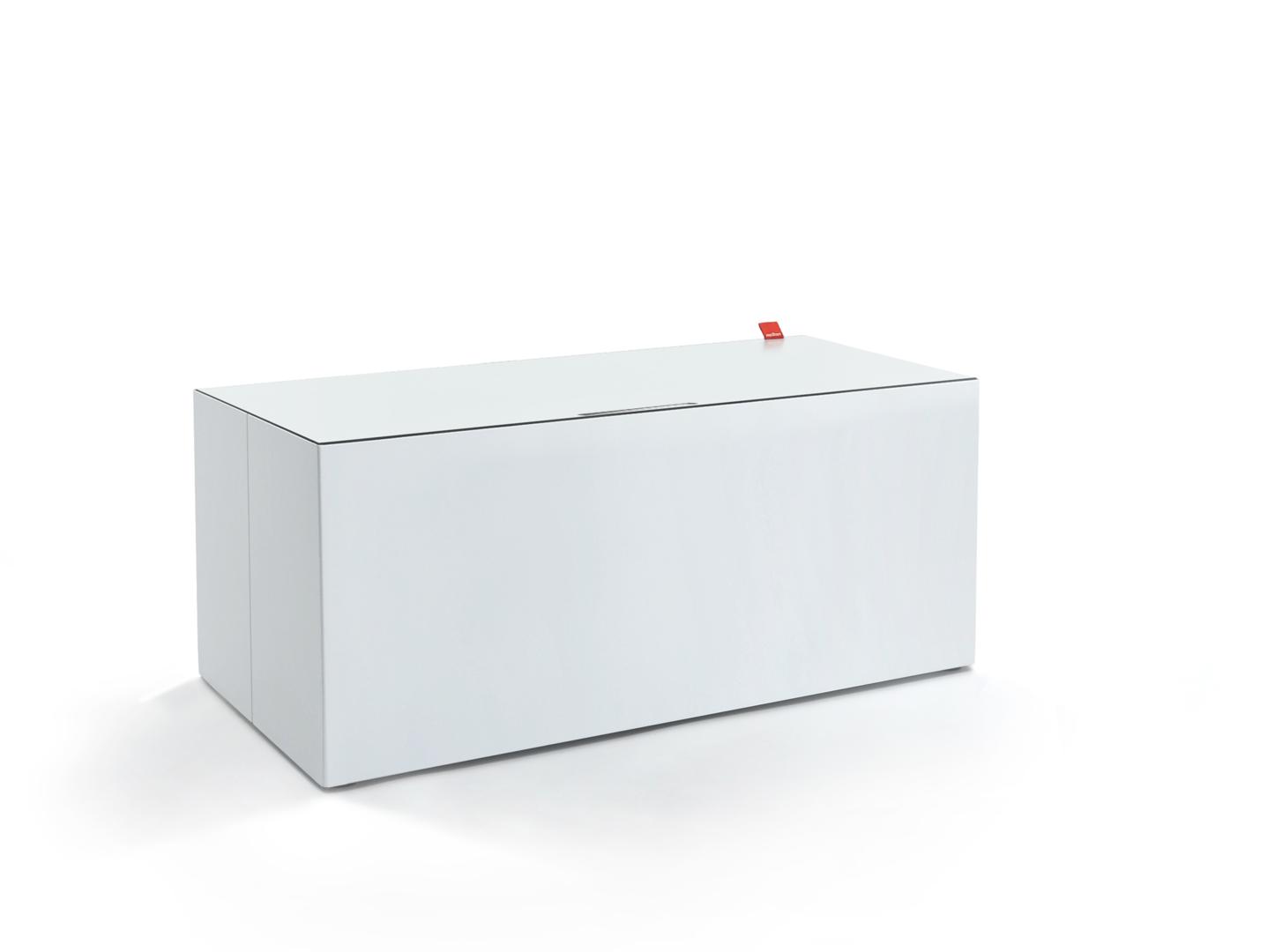 kissentruhe medium weiss weiss methon. Black Bedroom Furniture Sets. Home Design Ideas